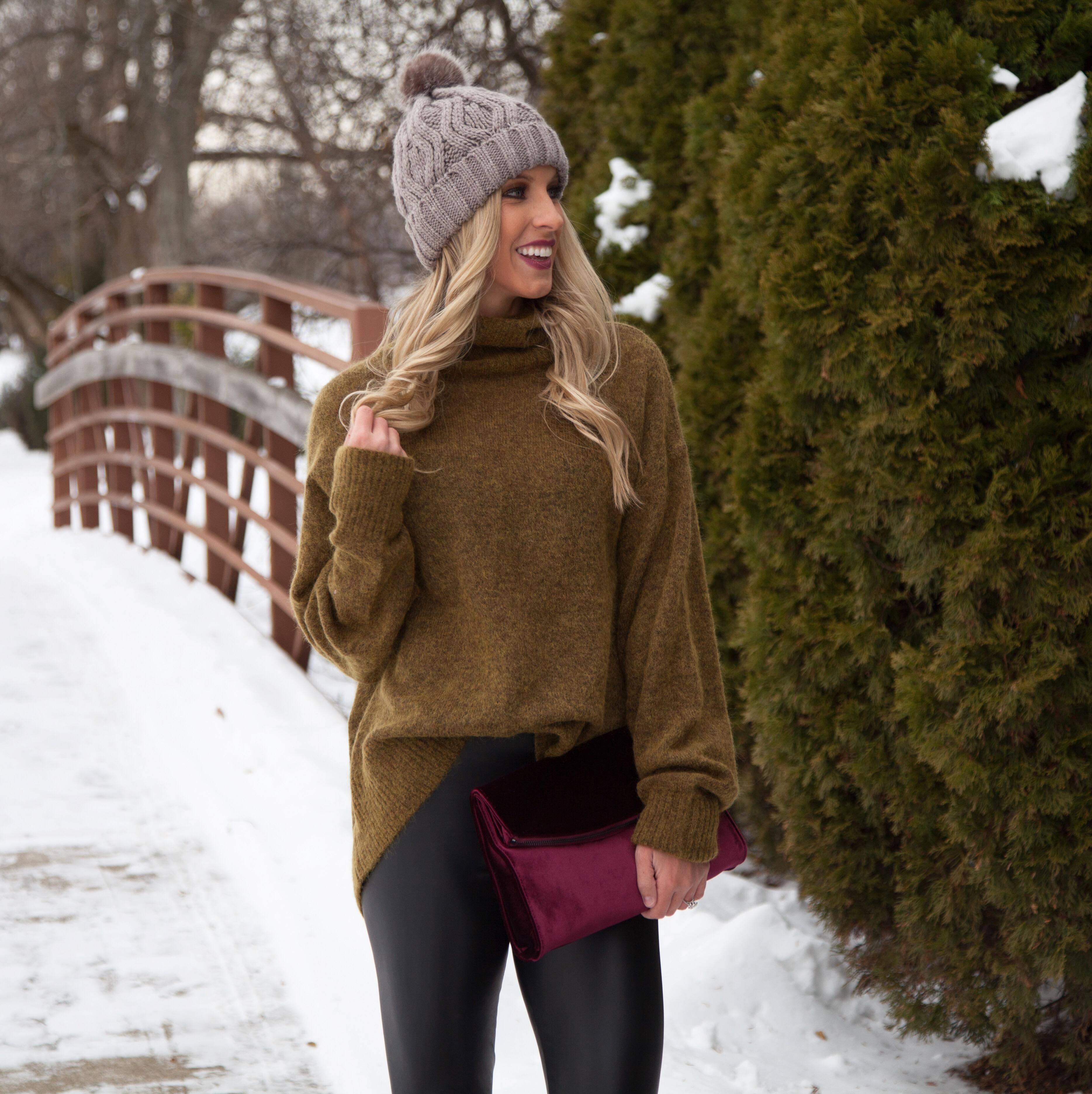 Turtleneck + Winter Boots