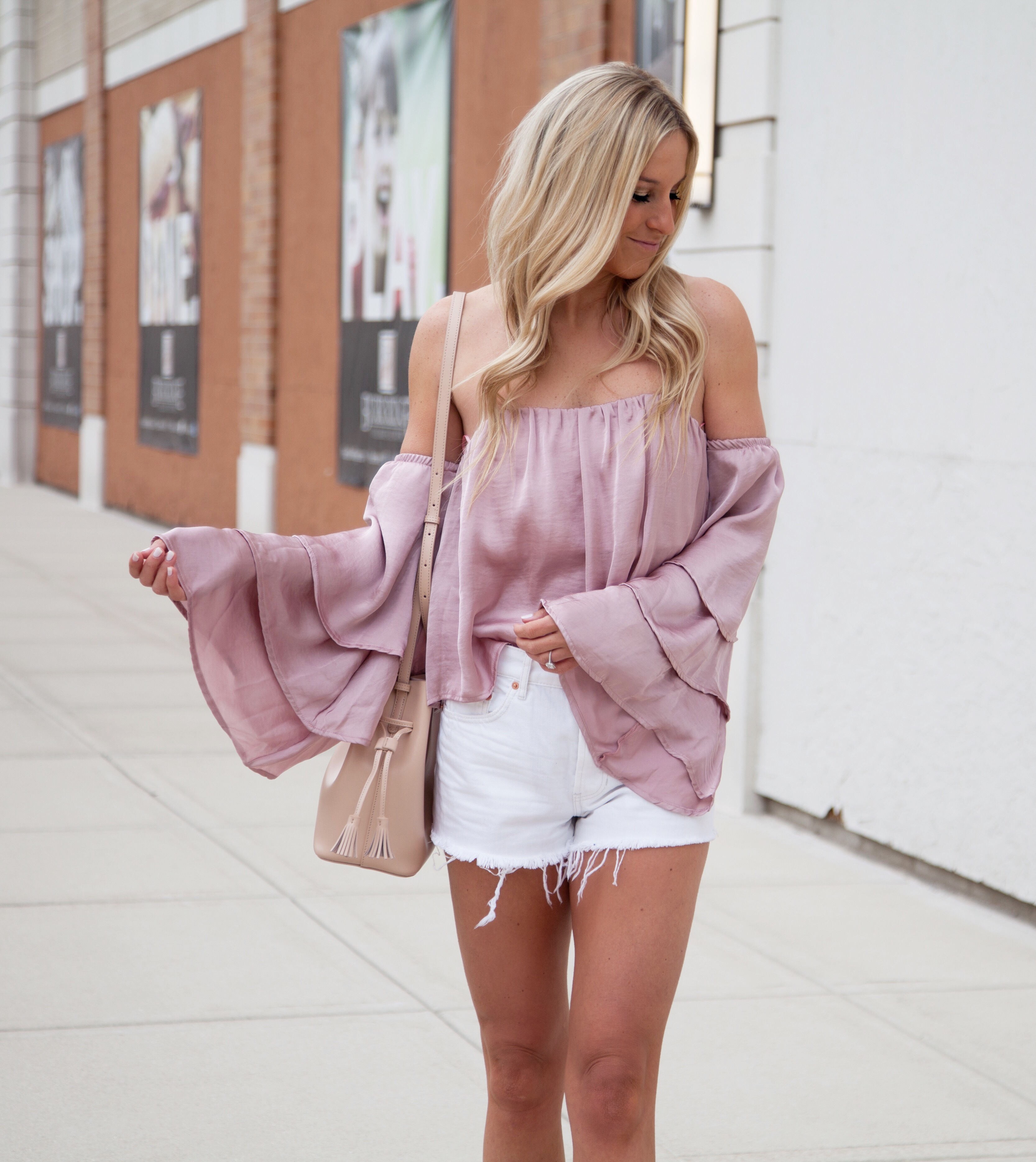 Blush Metallic Top