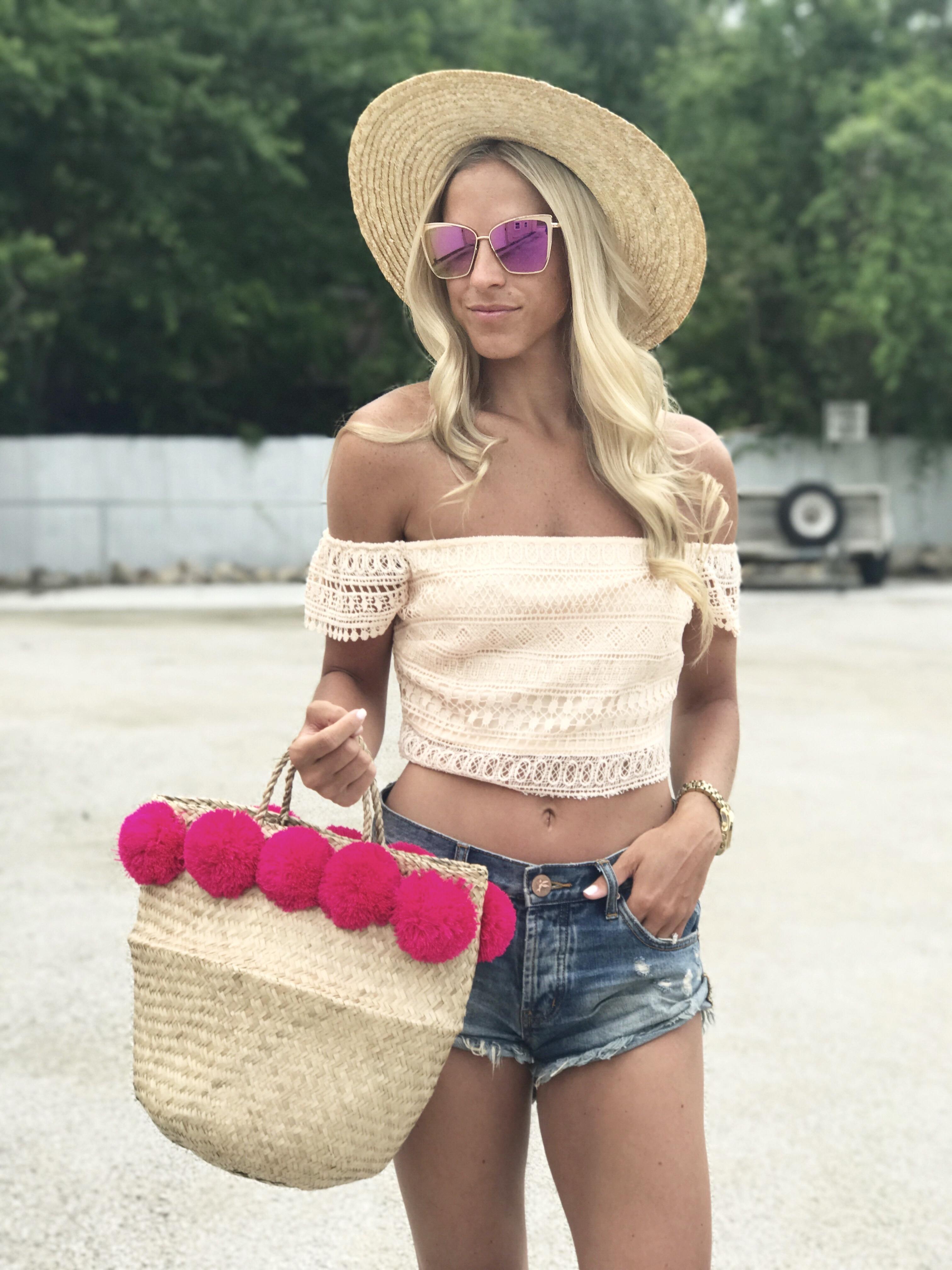 Orange Crochet Crop
